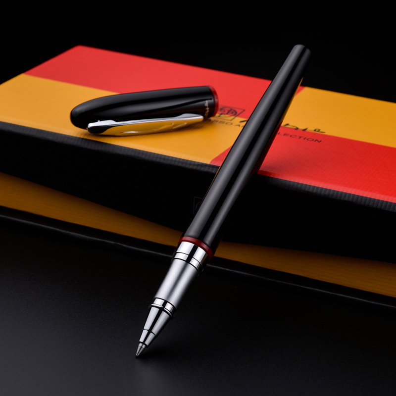 Free shipping 907 Fashion Pen Gift Black Roller ball Pen Signing pen Smooth writing black refill School & Office Supplies school supplies 3d snake clip monte mount high quality roller pen gel pen fashion kawaii orange metal roller ball pen refill