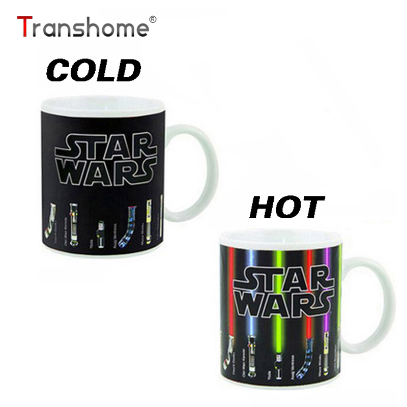 Transhome Star Wars Coffee Mug 300ml Personalized Color Change Mug Porcelain Star Wars Lightsaber Ceramic Dragon Ball Series Mug