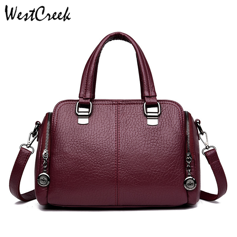 WESTCREEK Brand Women Luxury Handbags Female Leather Top-handle Shoulder Bag Vintage Hand Bag New fashion Ladies CrossbodyWESTCREEK Brand Women Luxury Handbags Female Leather Top-handle Shoulder Bag Vintage Hand Bag New fashion Ladies Crossbody