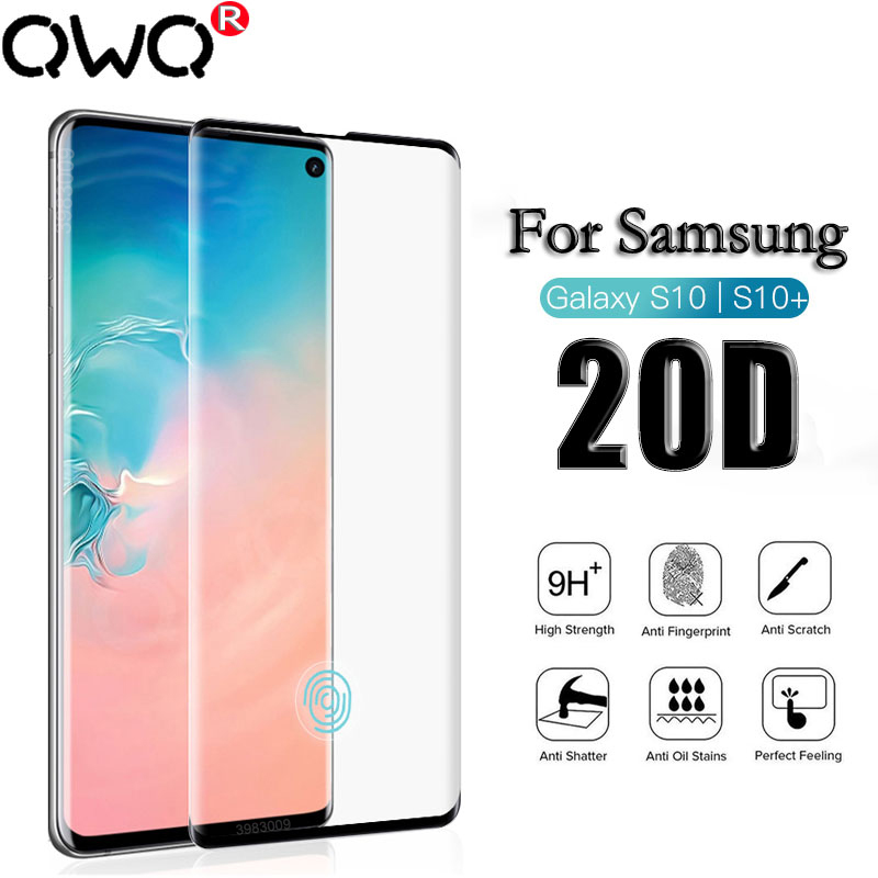 Tempered Glass Film For Samsung Galaxy A50 S10 S8 Plus S9 Plus Note 9 8 20D Full Curved Screen Protector For Samsung S10E S7 Edg
