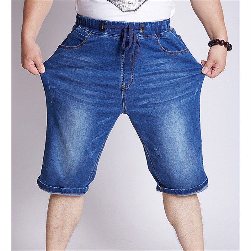 2016 Summer New Fashion Mens Classic Design Straight Stretch Jeans Shorts High Elastic Material Plus Size 5xl 6xl 44 46 2 Colour s xl 2016 new summer