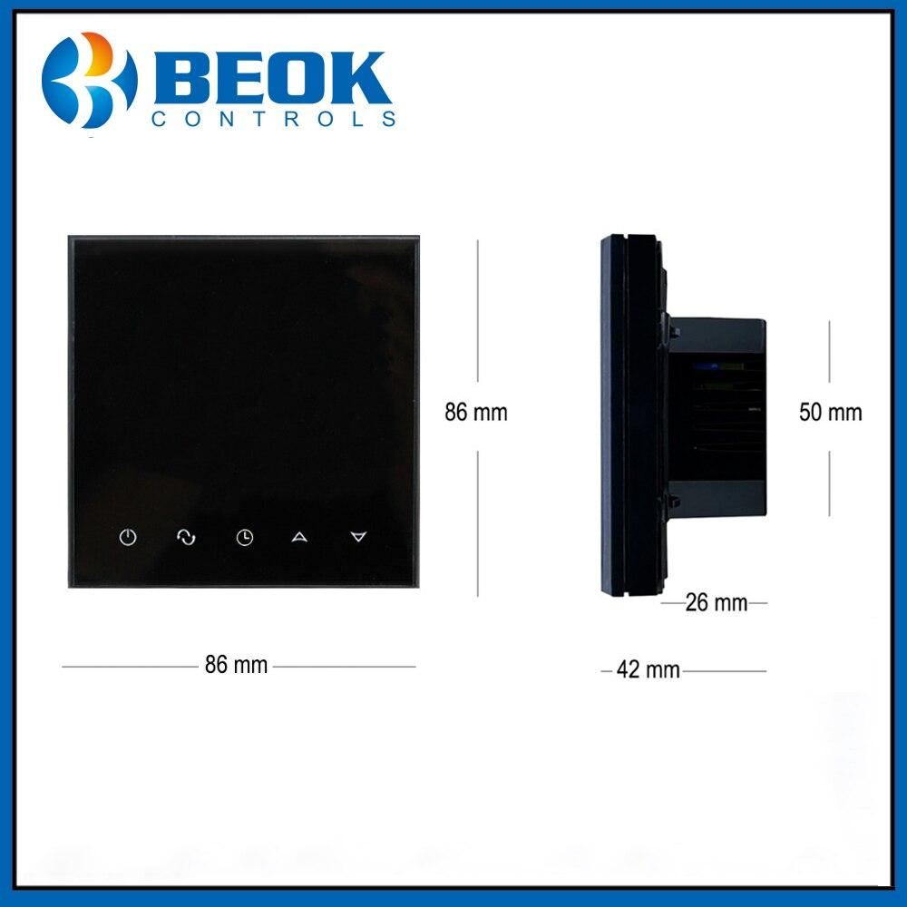 Beok WiFi Thermostat intelligent TGT70WIFI-EP régulateur de température de chauffage par le sol électrique - 4