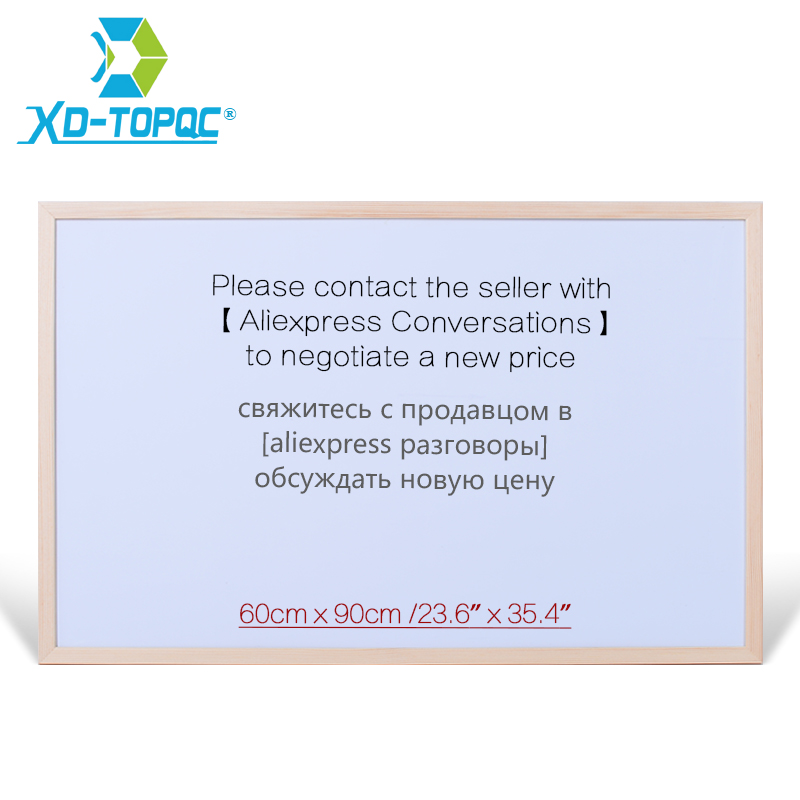 XINDI 60*90cm Pine Wooden Frame Whiteboard White Drawing Board Office School Supplier Factory Direct Erased Writing Boards WB46