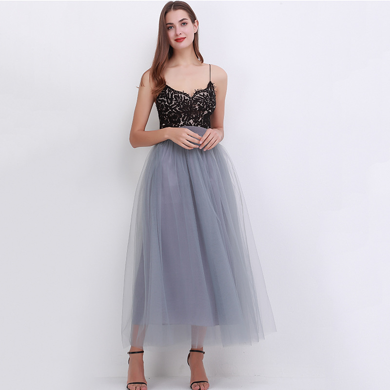 4 Layers 100cm Floor length Skirts for Women Elegant High Waist Pleated Tulle Skirt Bridesmaid Ball Gown Bridesmaid Clothing 26