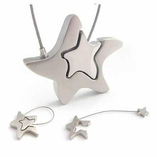 LLavero de estrella de mar de estrella romántica de moda llavero KeyfobKey Fob soporte 86417