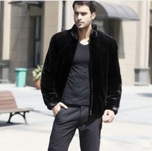 fb066961b98 Retro Mens Short Leather Jacket 2018 Winter Warm Faux Fur Coat Overcoats Stand  Collar Plus Size Mink Fur Outerwear XL692
