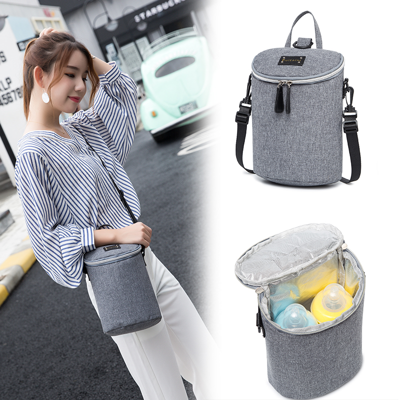 New Mini Maternity Backpack Women Baby Bottle Bag Aluminum Foil Food Milk Breast Nursing Thermos Insulation Bags Mummy Handbag