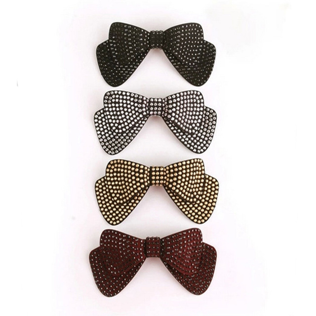 Sale 1Pc 4 Colors Cute Solid Bow Barrettes Hairpin Women Fashion New Arrival Charming Hair Jewelry 4Styles