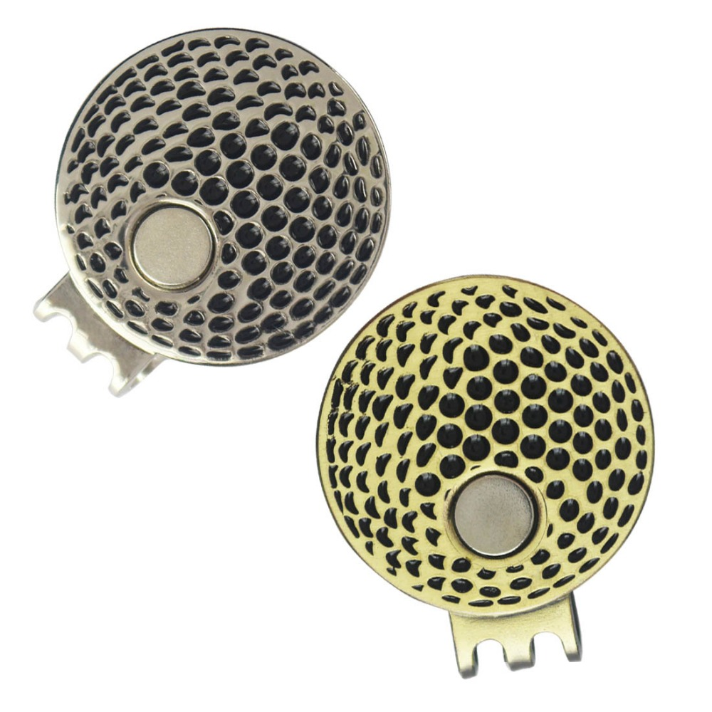 Magnético fuerte de Metal Clip Del Sombrero Del Golf, 2 Colores Diferentes de La