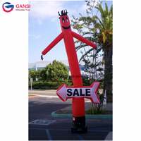 Free air blower advertising inflatable air dancer,5m height desktop inflatable tube man for sale