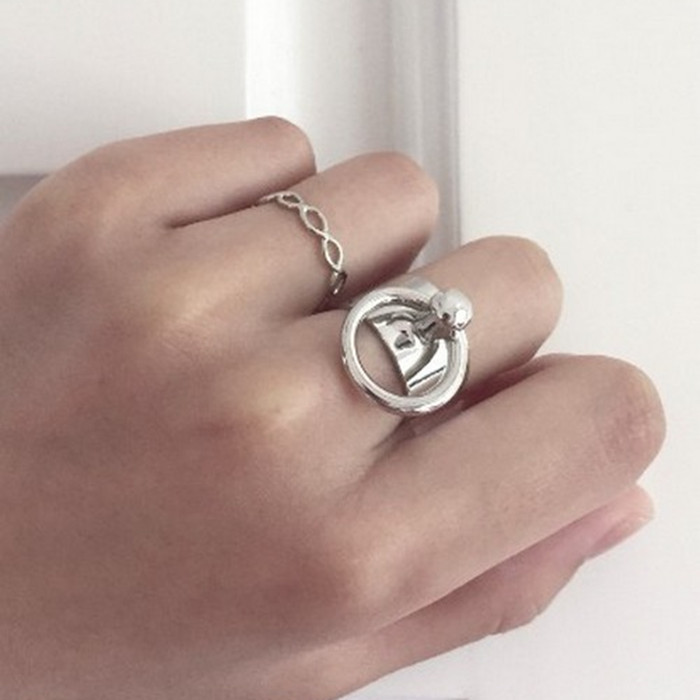 크기 조정 가능 도매 미니멀 바람 액세서리 반지 - 패션 쥬얼리 - 사진 5