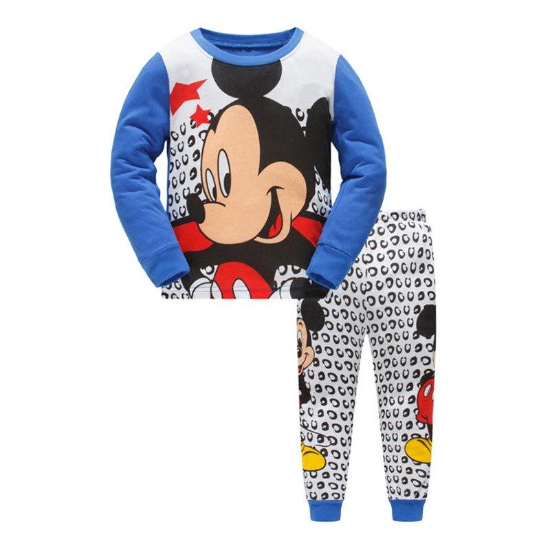 Children Pajamas Set Kids Baby Girls Boys Cartoon Mouse Pijamas Sleepwear 2018 Menino Miki Long Sleeve Pyjamas 2 3 4 5 6 7 Years