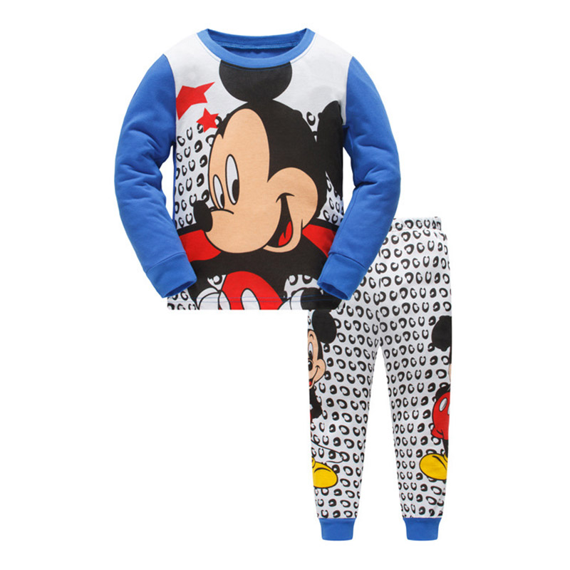Children   Pajamas     Set   Kids Baby Girls Boys Cartoon Mouse Pijamas Sleepwear 2018 Menino Miki Long Sleeve Pyjamas 2 3 4 5 6 7 Years