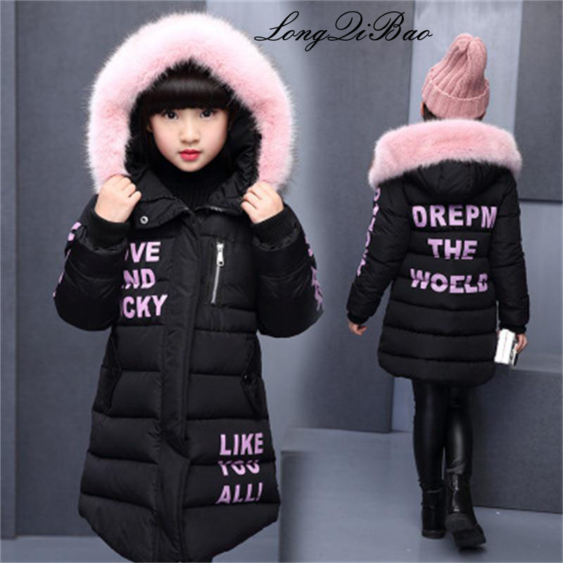 Children's winter cotton warm coat cotton real fur collar jacket coat winter jacket park for a girl lively winter winter women coat jacket warm high quality woman park jackets winter coat hood fur collar belva 2017 new winter collection 785