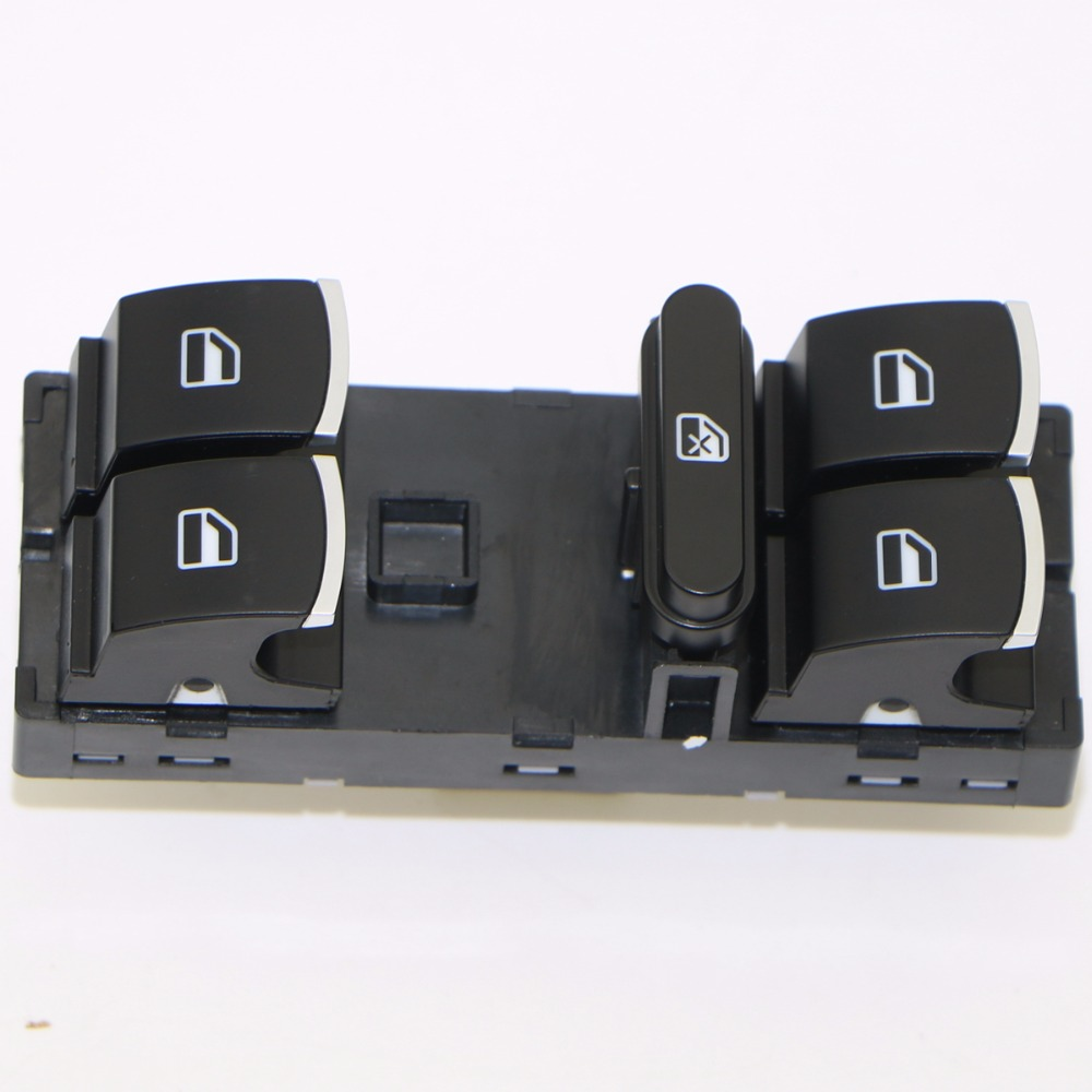 1 Pcs MK5 MK6 Chrome Mestre Janela Switch Para VW Golf Jetta Tiguan Touran Passat 5ND959857 5ND 959 857 5K4959857 5K4 959 857