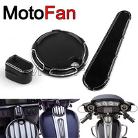 Beveled Motorcycle Ignition Switch Dash Insert Caps Fuel Tank Door Covers SET For Harley Davidson Touring FLHX Road Glide FLTRX