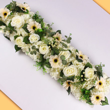 Christmas HUAIU Artificial Flower Arrangement Wedding Party Scene Decoration DIY Wall Photography Prop Rose Fake