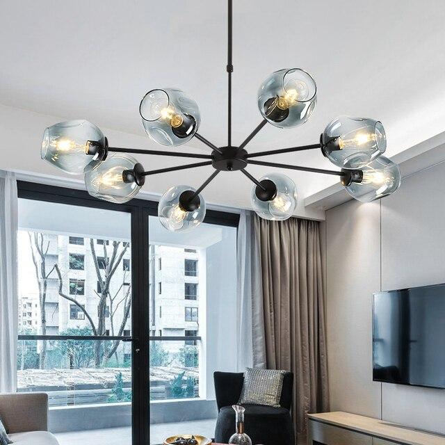 € 100.56 43% de DESCUENTO Bola de cristal de la ramificación de burbuja  colgante lámparas para comedor habitación araña moderna iluminación Lustre  Led ...