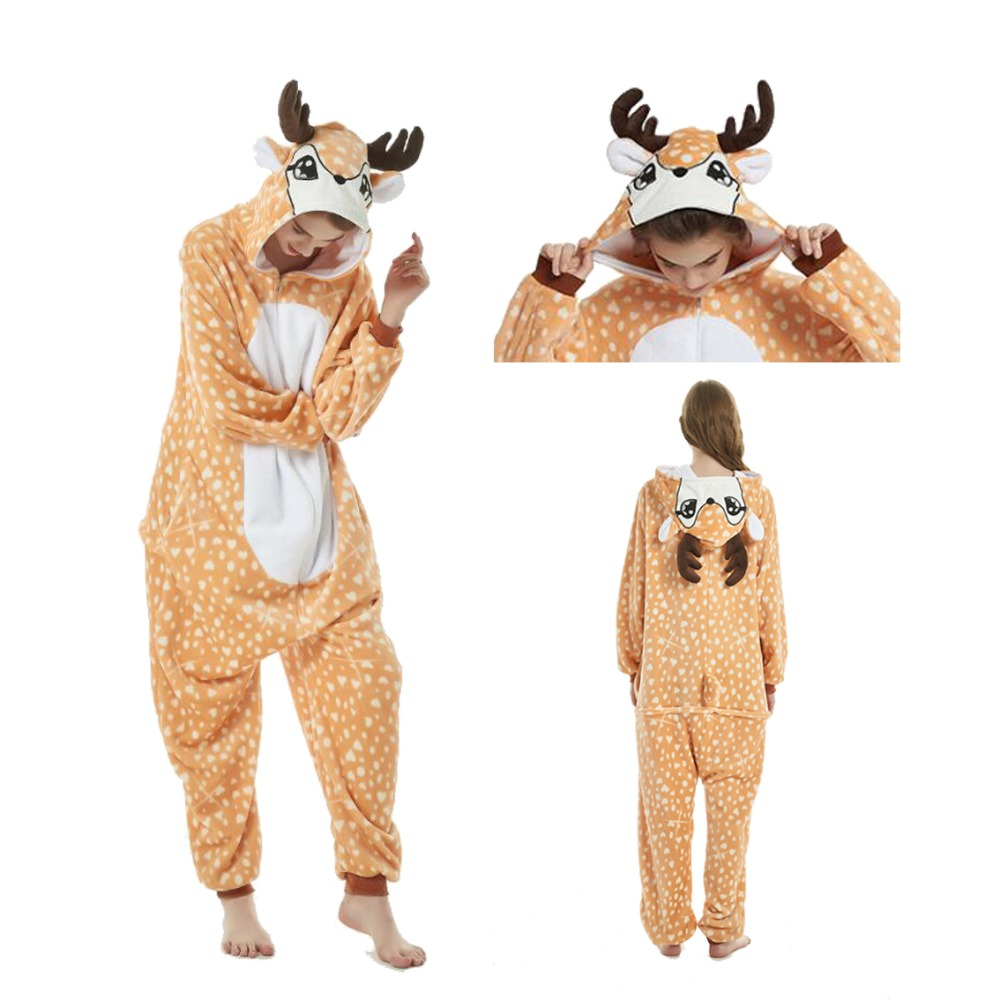 2019 New Onesie Wholesale Animal Cartoon Blue Stitch Unicorn Onesies Adult Unisex Women Hooded Adult Winter Flannel Sleepwear