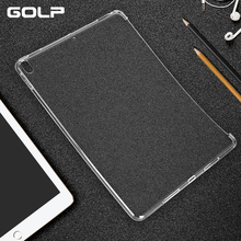 цена на GOLP Tablet Case For iPad Pro 10.5 Ultra Slim Soft TPU Matte Crystal Transparent Silicone Gel Protect Back Case Cover For iPad