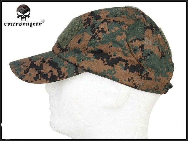 b816ae92ba4 EMERSON Baseball Sport Cap Military Tactical Army Cap Anti-scrape Grid  Fabric ACU MC AT Hunting hat