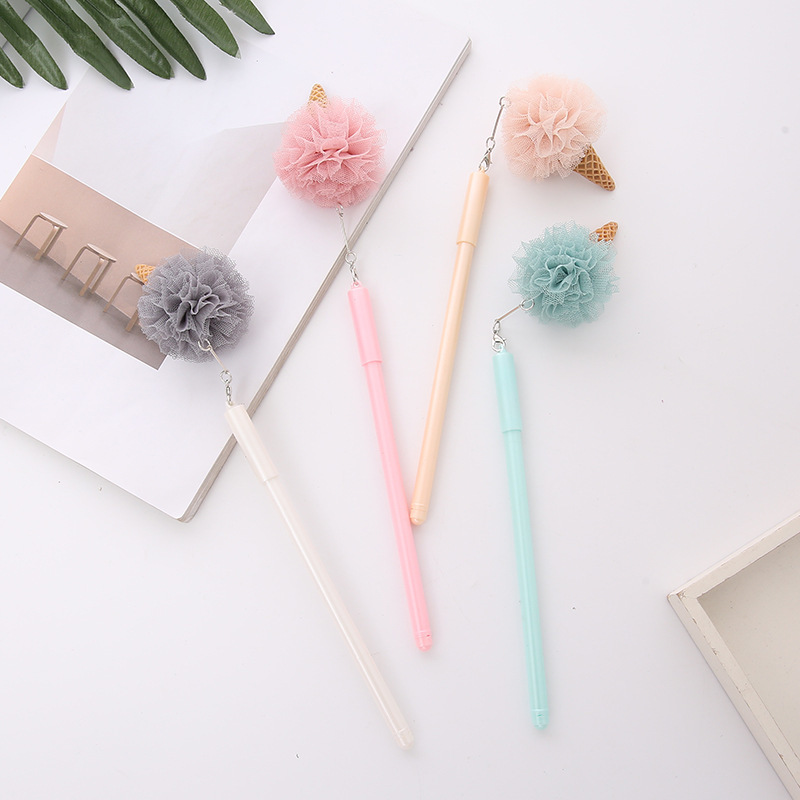 30 Pcs/SET Gel Pens Creative Ice Cream Black Colored Kawaii Gift Gel-ink Pens For Writing Cute Stationery Office School Supplies 12 pcs 0 5mm cute small fresh candy color diamond color gel pen creative gift school supplies colored gel pens