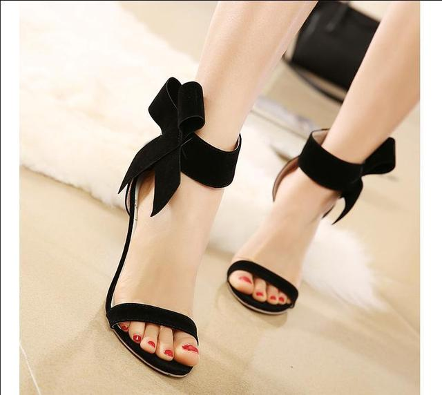 Cheap Bowtie Sexy Strappy Heels Sandals Women Must Haves Summer ...