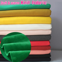 Knitted Cotton Fabric Flannelet Fabric Span Velour Fabric Sweatshirt Blanket Plush Sold By The Yard Free