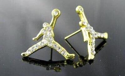 CALIENTE!! moda Hip Hop Baloncesto Aire Michael Jordan Pendientes de
