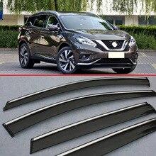For Nissan MURANO 2015 2016 2017 Window Wind Deflector Visor Rain/Sun Guard Vent