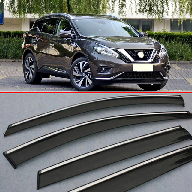 for nissan murano 2015 2016 2017 window wind deflector visor rain  sun guard vent
