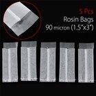 5Pcs 90m Micron 1.5x3 Nylon Mesh Rosin Oil Press Filter Bags Nylon White Screen with Flap