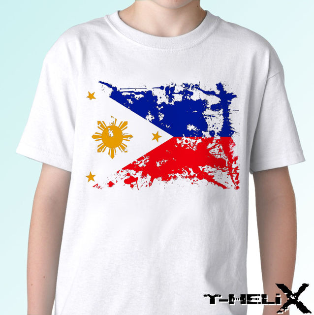 d471106c218 US $12.23 12% OFF|Philippines flag white t shirt top design mens womens  kids & baby sizes New T Shirts Funny Tops Tee New Unisex Funny Tops-in ...