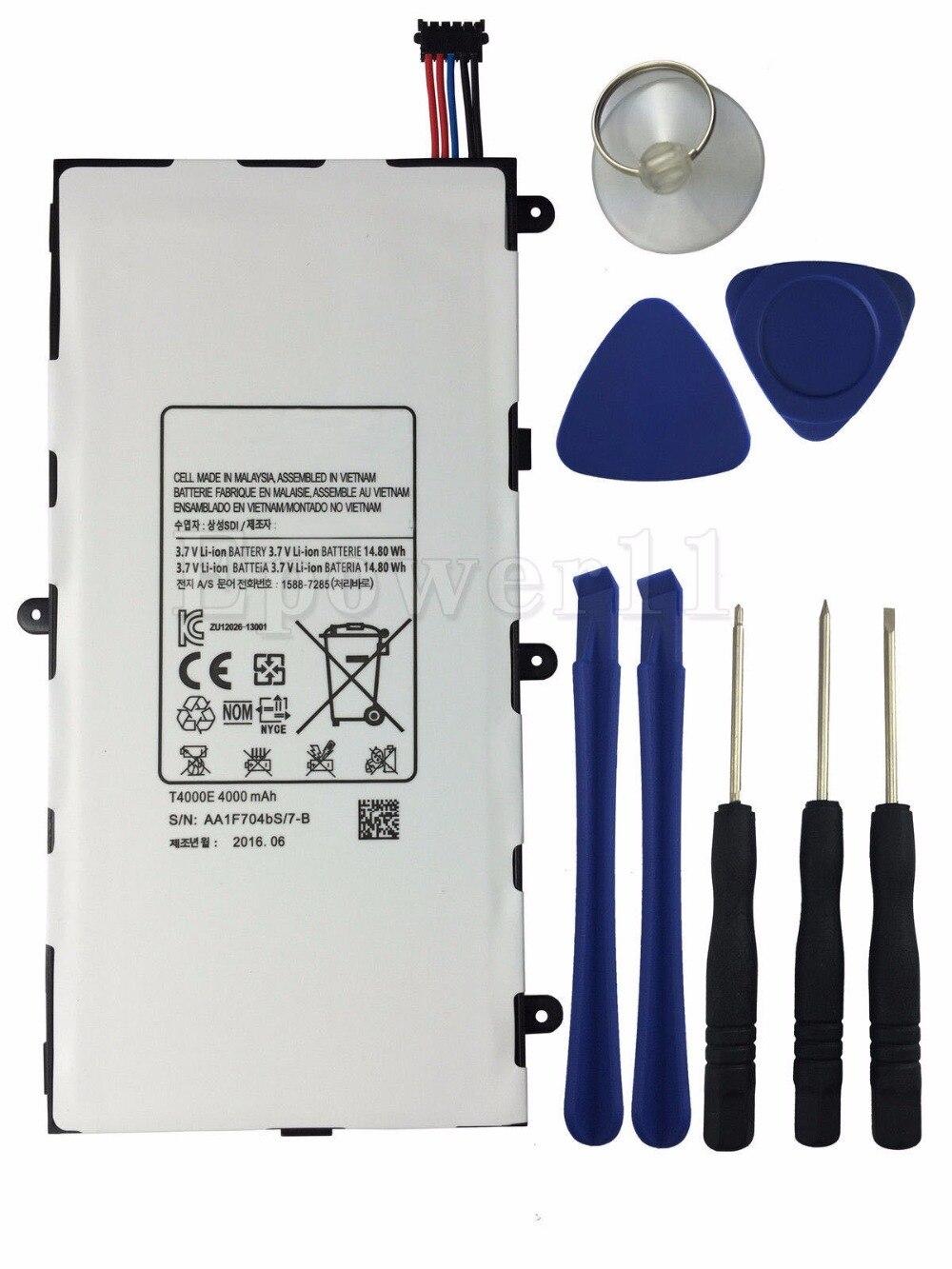 imágenes para Nueva batería original genuina para samsung galaxy tab 3 7.0 t210 t211 t4000e niños t2105 4000 mah batería + herramienta + número de pista