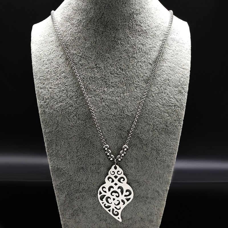 2019 كبير طويل القلب الفولاذ المقاوم للصدأ القلائد النساء مجوهرات الخرزة القوطي المختنق القلائد و المعلقات مجوهرات طوق corazon N18054