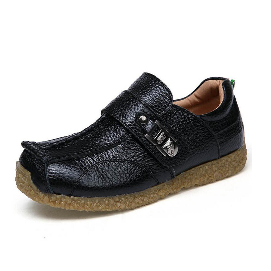 2018 New Kids Shoes Boys Genuine Leather Shoes High Quality Soft Sole  Children Casual Shoes Fashion Comfortable Flat Boys Shoes ae04325bebcc