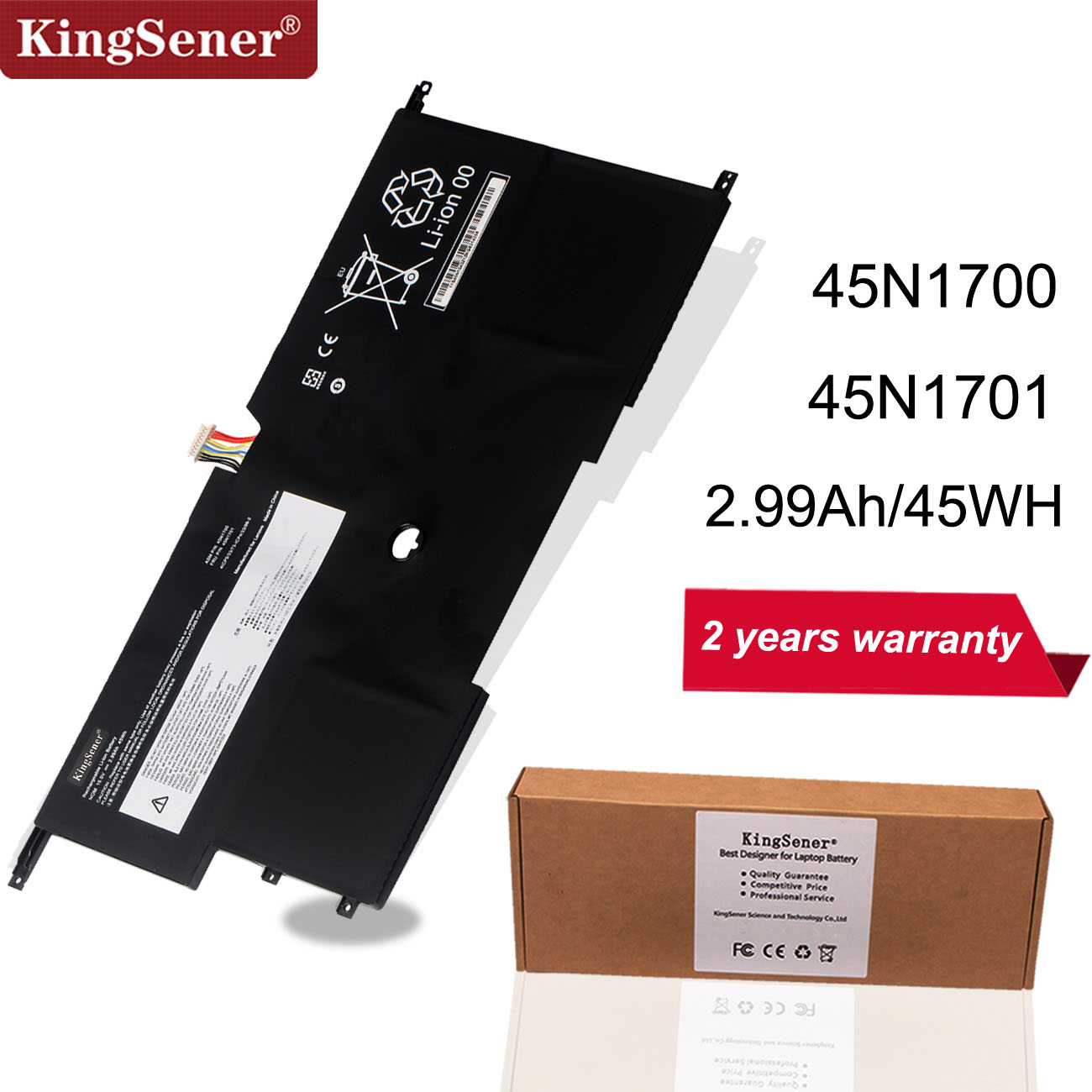 KingSener X1 Laptop Battery 45N1700 45N1701 45N1702 45N1703 For Lenovo ThinkPad X1 Carbon Gen 3 Series 4ICP5/58/73-2 15V 45WH