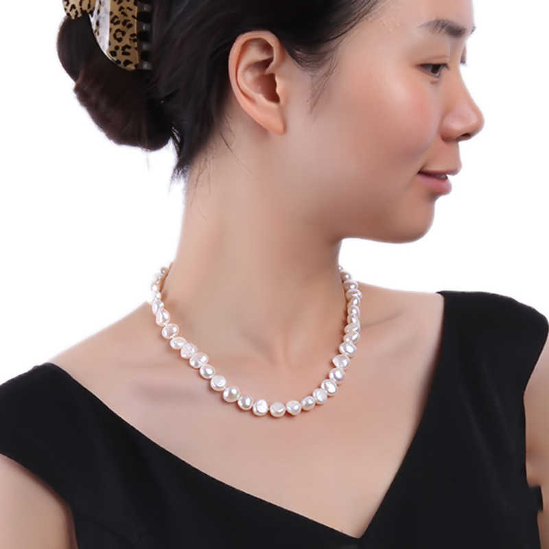 JYX lusterous White South Sea Baroque Pearl Necklace 18 Inches natural pearl 328sale pearl necklace women