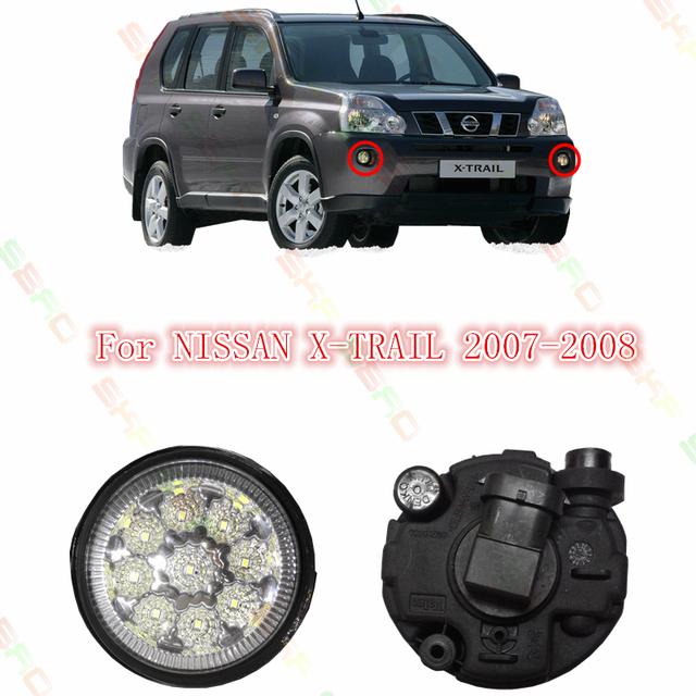 Estilo do carro LEVOU Lâmpadas de luz de Nevoeiro Para NISSAN X-TRAIL X TRAIL 2007-2015 2 PCS Reequipamento AZUL AMARELO BRANCO