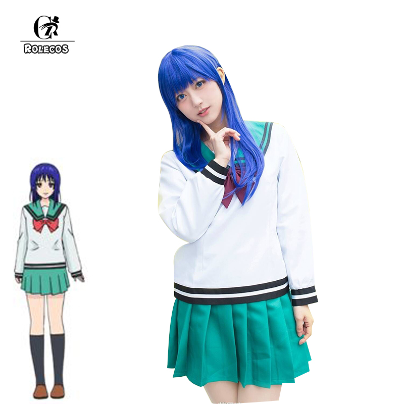 ROLECOS The Disastrous Life of Saiki K Cosplay Costume Kokomi Teruhashi Anime Cosplay Japanese School Uniform Costume for Women