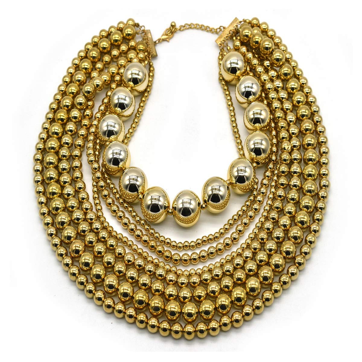 Simulated Pearl Choker Necklace for Women Bridal Wedding Pearl Statement Necklace
