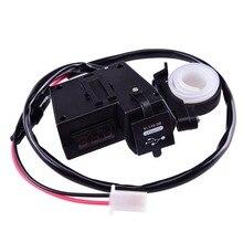Высокое качество 2 в 1 dual USB порт зарядное устройство led вольтметр 3.1A Автомобиль Мотоцикл Вольтметр Вольтметр Цифровой СВЕТОДИОДНЫЙ Авто USB Зарядное Устройство