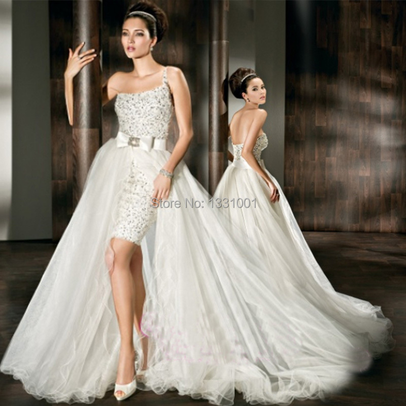 Buy 2 in 1 wedding dress long and short for Wedding dresses 2 in 1