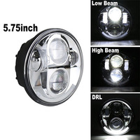 Newest 5.75 Harley led lights High/Low Beam with Angel eyes motorcycle headlight for Harley Dyna Fat Bob 2008 2013