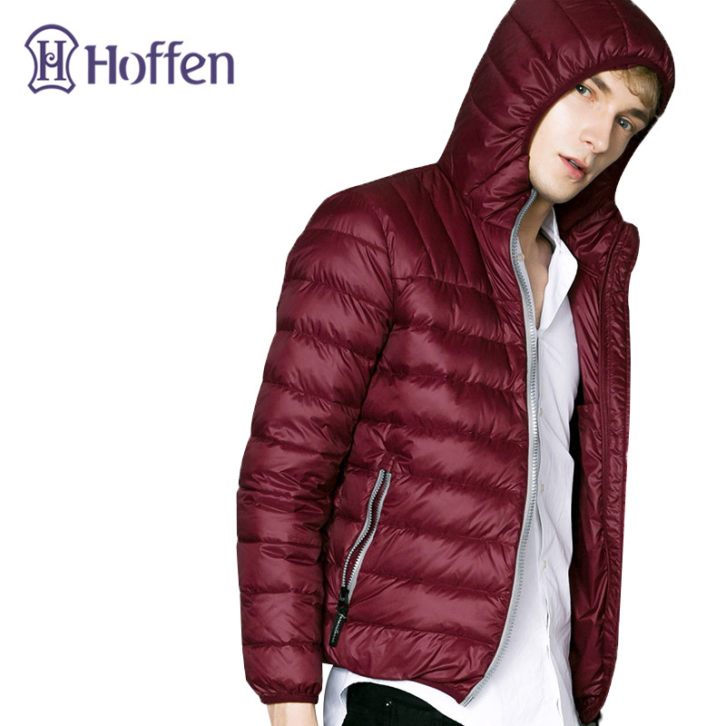 Hoffen Brand New Mens Ultralight Duck Down Jacket Men Casual Slim Fit Lightweight Winter Down Coat Solid Men Overcoats WS313 hot 2016 stylish winter ultra light duck down jacket men new brand slim fit mens jackets