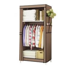 Минималистский Ткань Шкаф студенческого общежития один маленький ткань шкаф складной Костюмы хранения шкаф, домашняя мебель шкаф