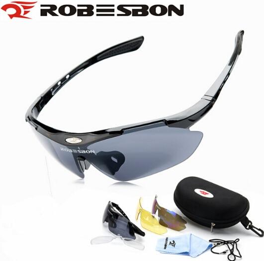 Prix pour ROBESBON Vélo Lunettes Moto lunettes de Soleil Lunettes Avec 3 Objectif Plein Air Gafas Ciclismo Sport Vtt VTT Vélo Verre