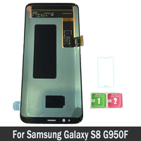High Quality Super AMOLED LCDs For Samsung Galaxy S8 G950F G950FD G9500 G950U LCD Screen Display Touch Digitizer Assembly