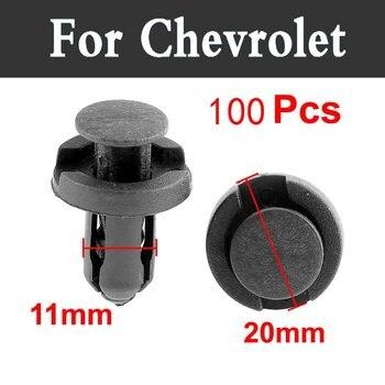 100 piezas 11mm estilo del coche Clips de parachoques sujetador remachador remache Panel de puerta para Chevrolet Corvette Cruze Epica Evanda Impala kalos