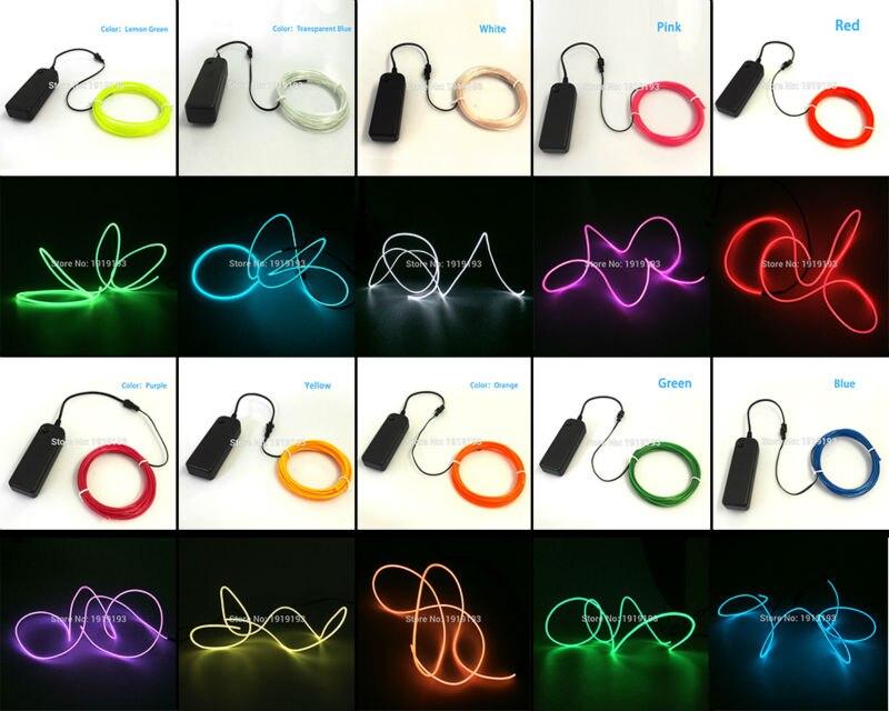 Tiras de Led luz neon luz brilho el Application Occasions : Party/ Festival Decoration/ Cosplay